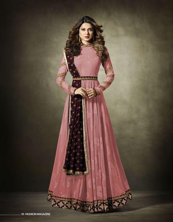 b285a82eb4 sethnic mauve jennifer mugdha salwar suit 11019f Designer Gowns, Indian  Designer Wear, Designer Anarkali