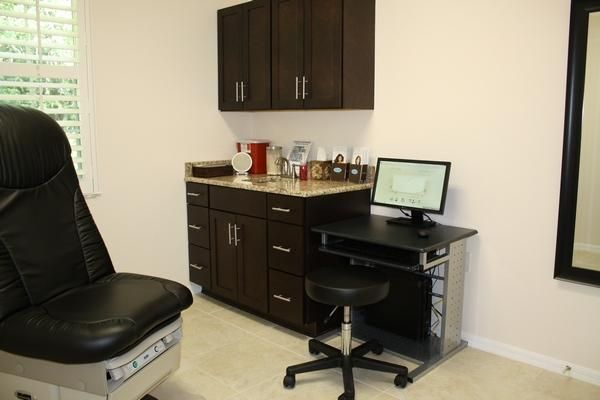 Exam Room Colors  Black Cabinets With Orange Marble Sinks