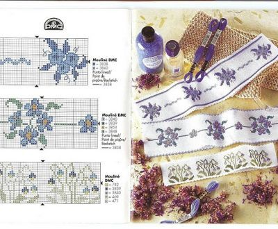 Schemi punto croce gratis bordure con piccoli fiori for Ricamo punto croce schemi gratis
