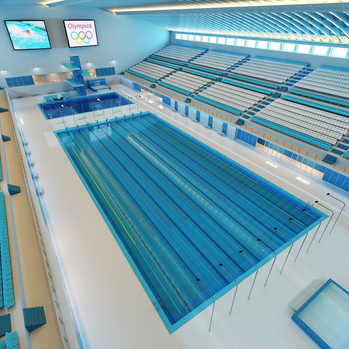 olympic swimming pool 3ds 3d model 3d modeling pinterest olympic swimming swimming pools and olympics