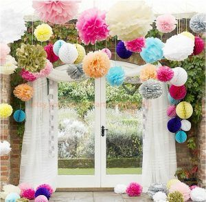 Tissue Paper Ball Decorations Bright Tissue Paper Flowers  Love Love Love  Bright Wedding