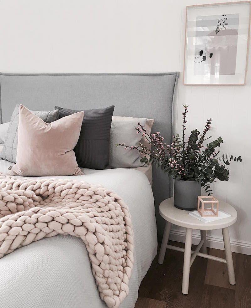 18 Deco Chambre Rose Et Gris  Pink bedroom decor, Rose gold