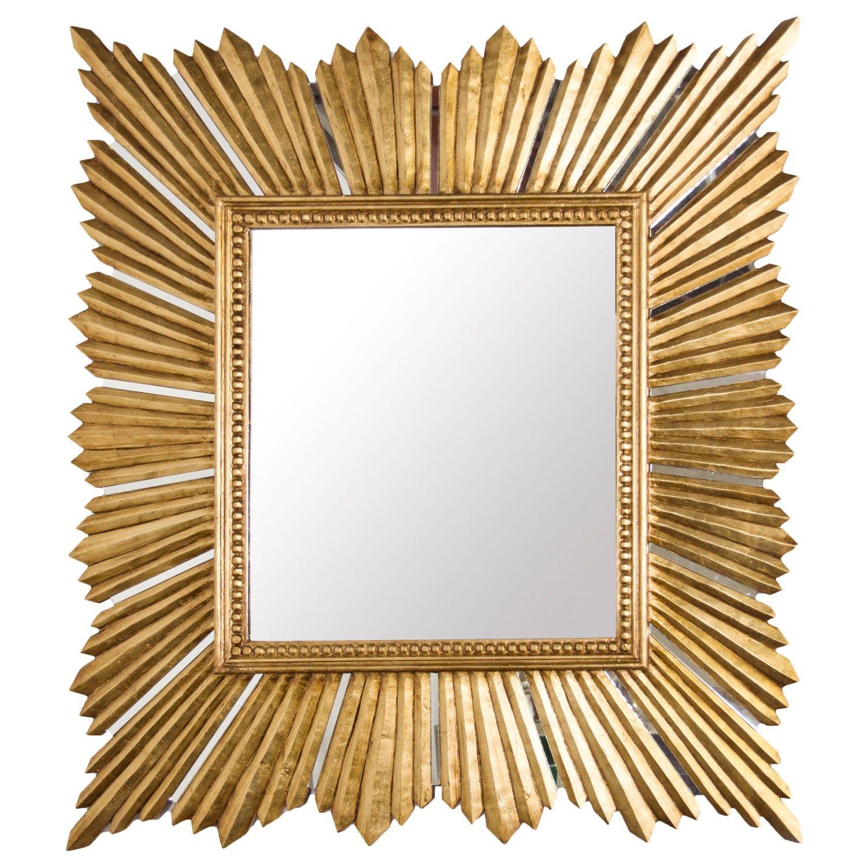 Worlds away raymond gold leaf mirror found at layla grayce