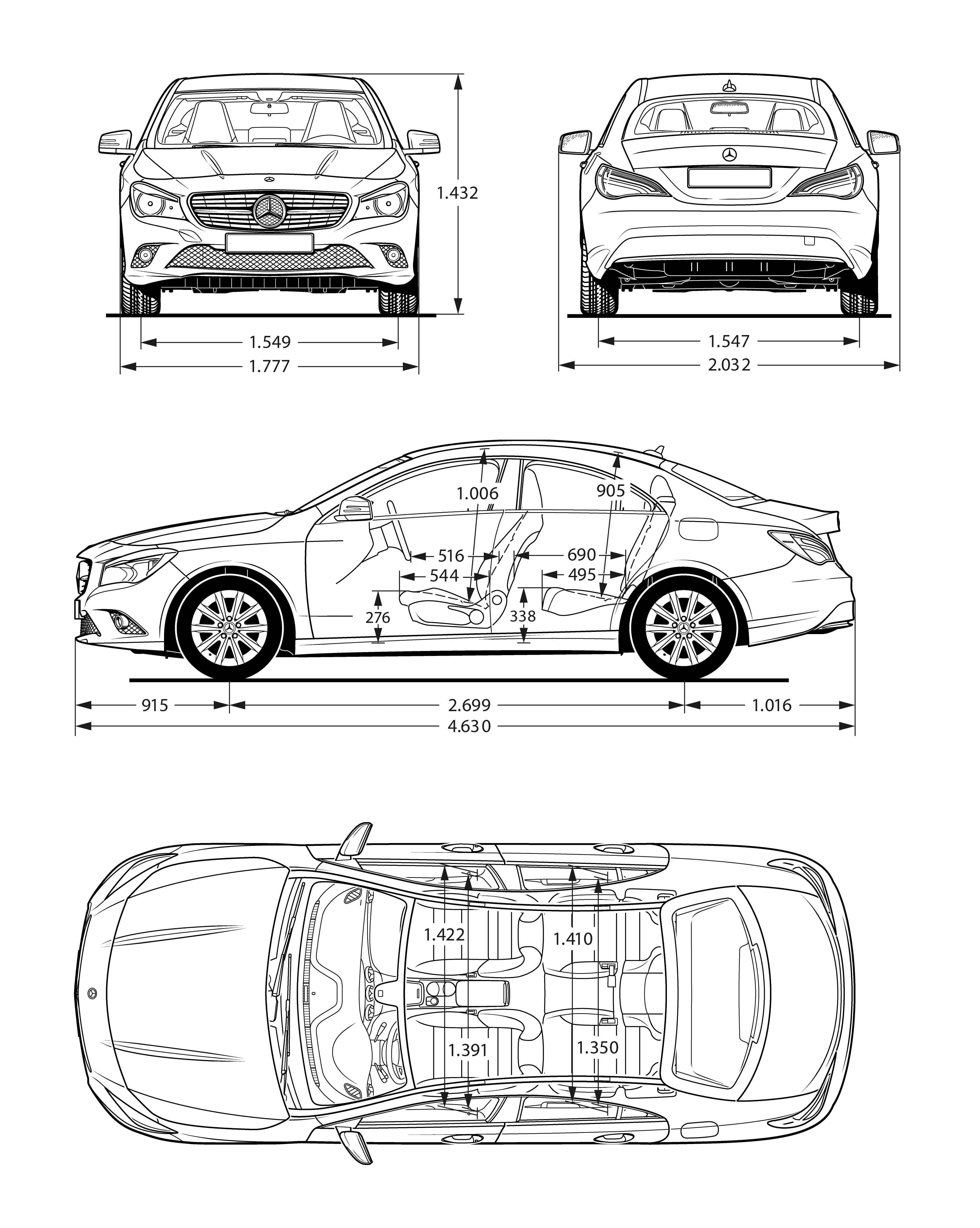 SCANIA R142H blueprint Trukkateikningar t Car sketch