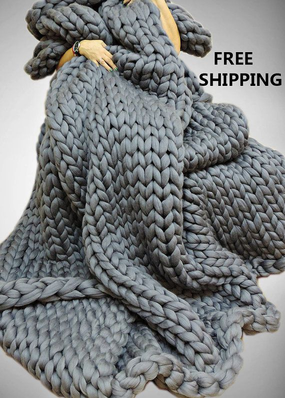 Super Chunky Blanket Chunky Knit Blanket Chunky by