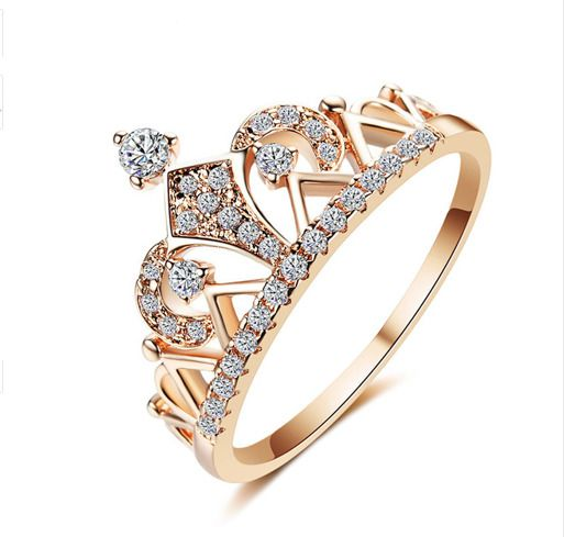 Fashion Women Lady Princess Queen Crown Silver Plated Ring Free U S Shipping Unbranded