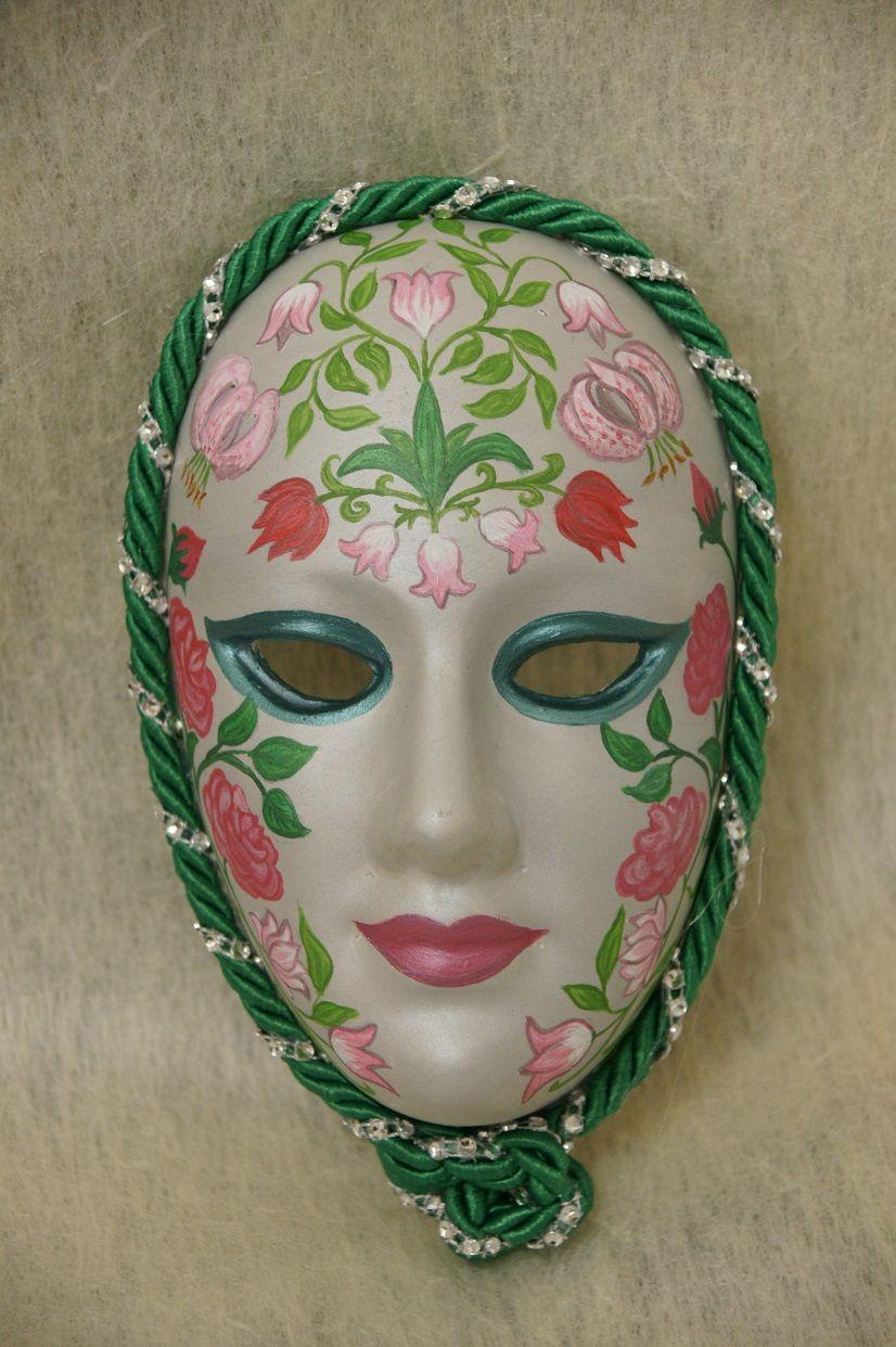 Venetian Mask Hand Painted Made Of Plaster Of Paris Venetian