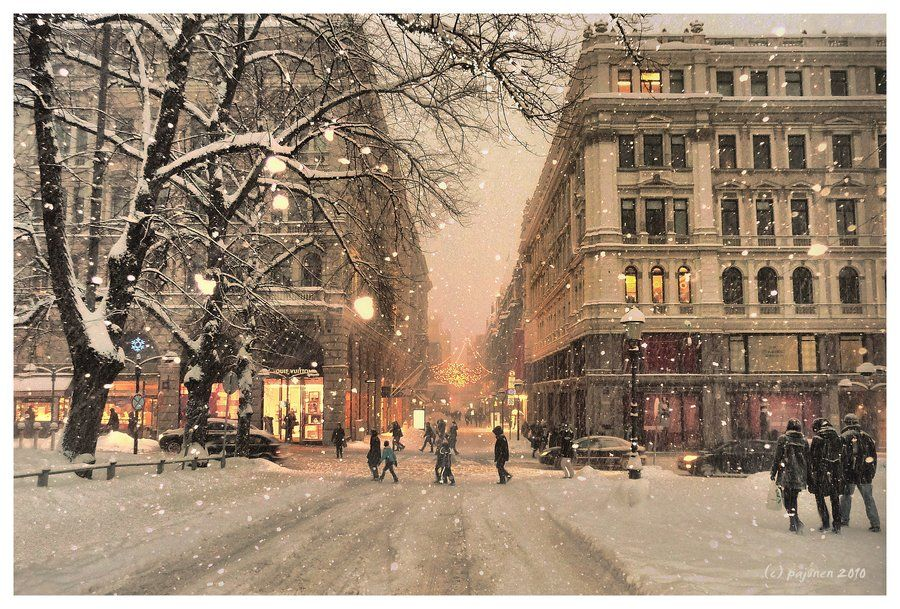 Winter In The City By Pajunen Deviantart Com On Deviantart
