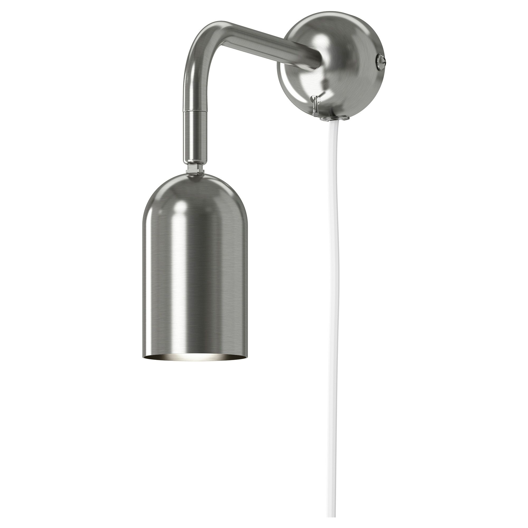 Farkost wall lamp nickel plated article number for Ikea article number
