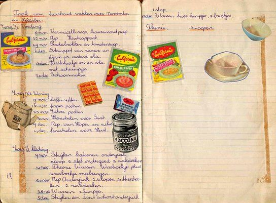 huishoudschool schrift huishoudvakken