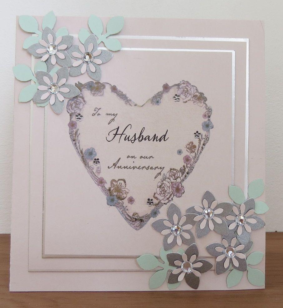 Anniversary husband card craft handmade crafts