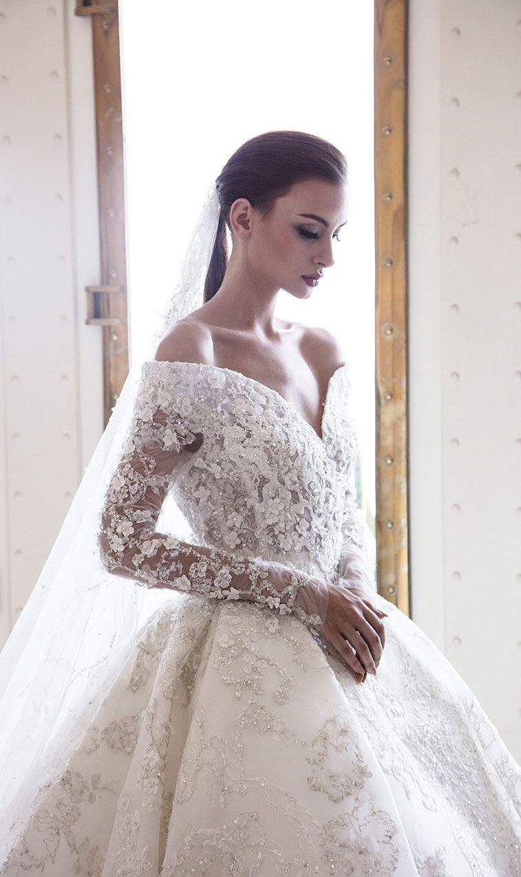 Elegant Off the shoulder wedding dress inspiration