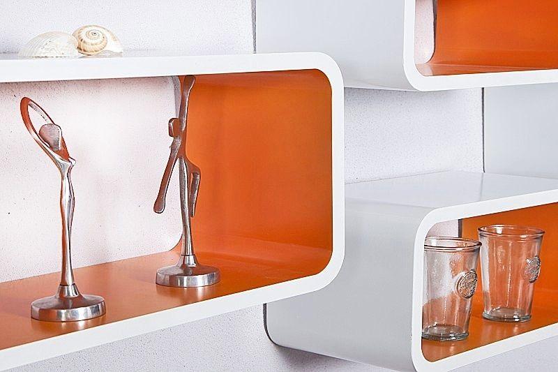 Lounge cube 4 set oranje - wit