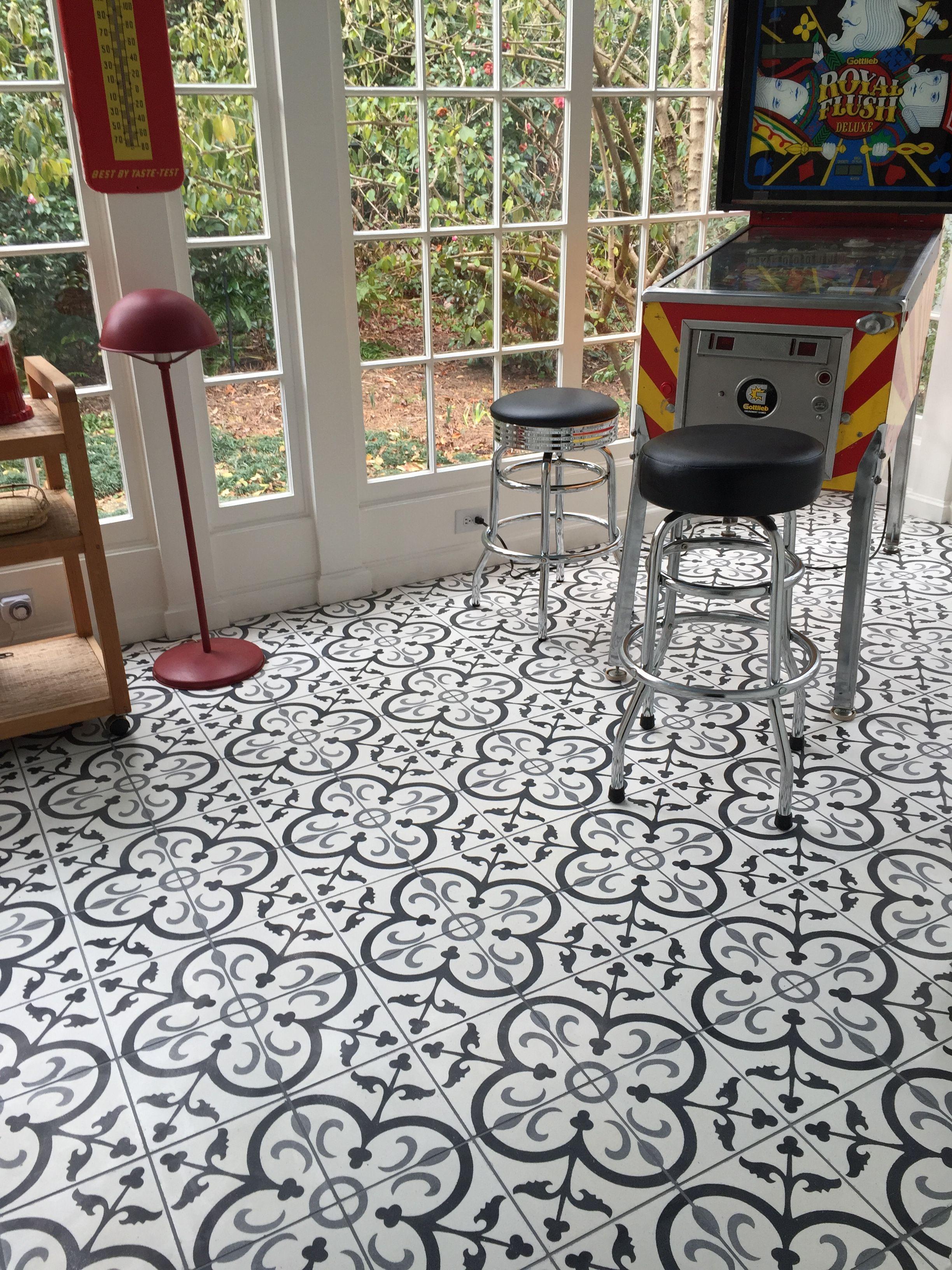 Black Gray La France Concrete 8x8 Tile View More At Arketype Us Cement Tiles