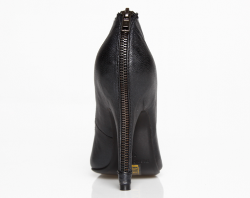 https://www.cityblis.com/10596/item/177  Party zip pump - $64 by Fashion by C  Description: Follow the trend with a zipper with this cool pump  Materials: Black Italian leather. Zipper heel. 11 cm heel, inside and sole leather.