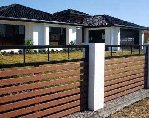 Metal And Wood Fence Modern Fence Design Wood Fence Design Fence Design