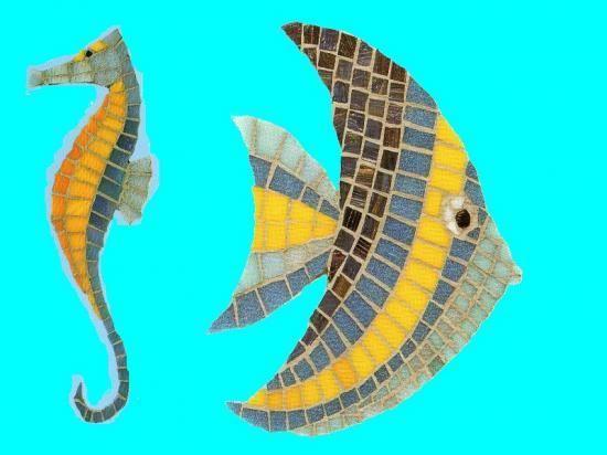 Cuisine cr/édence//Salle de bains douche Fresque murale en carrelage par Paul Brent Parrot poisson