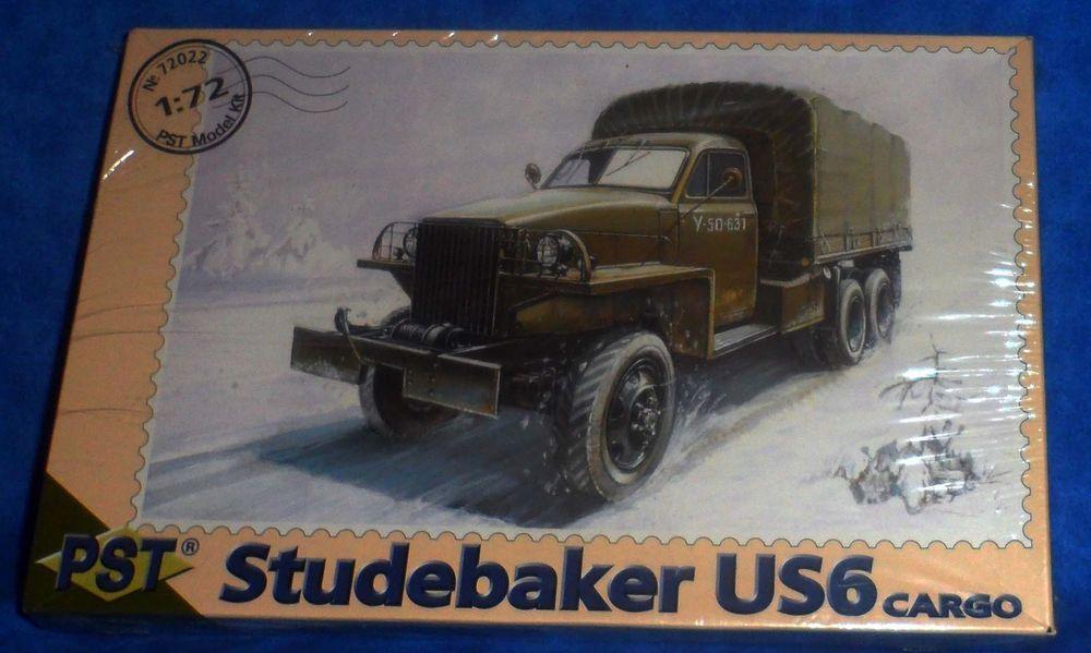 Pst Studebaker Us6 Cargo Military Truck Model Kit 1 72 Scale