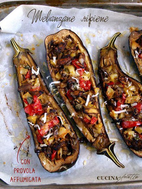 Meatless day: melanzane ripiene con provola affumicata #magariungiorno