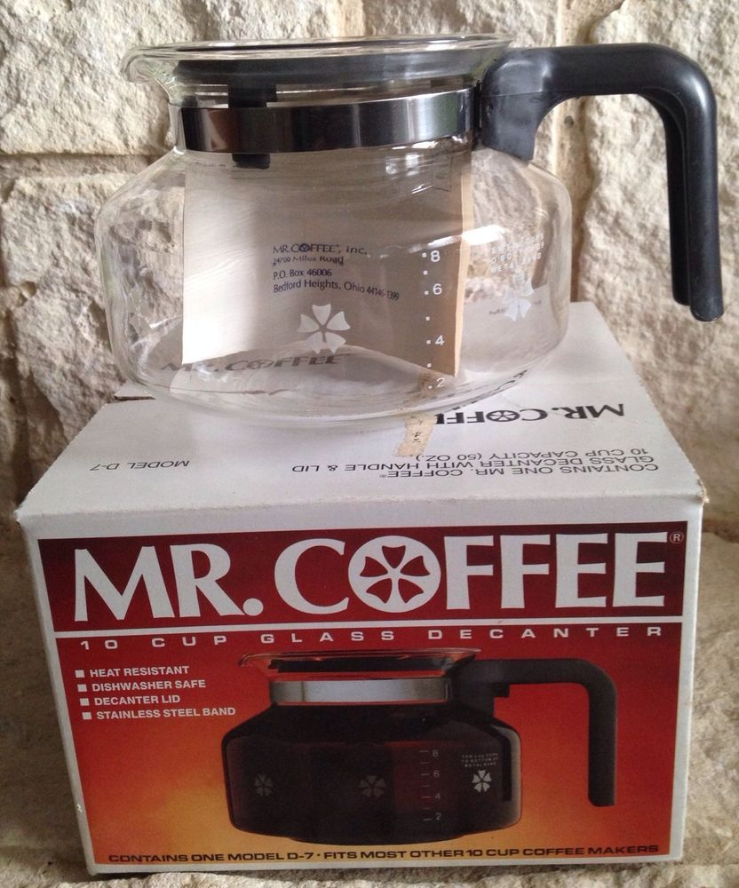 NEW Mr. Coffee Decanter Replacement 1986 Model D7 10 Cup