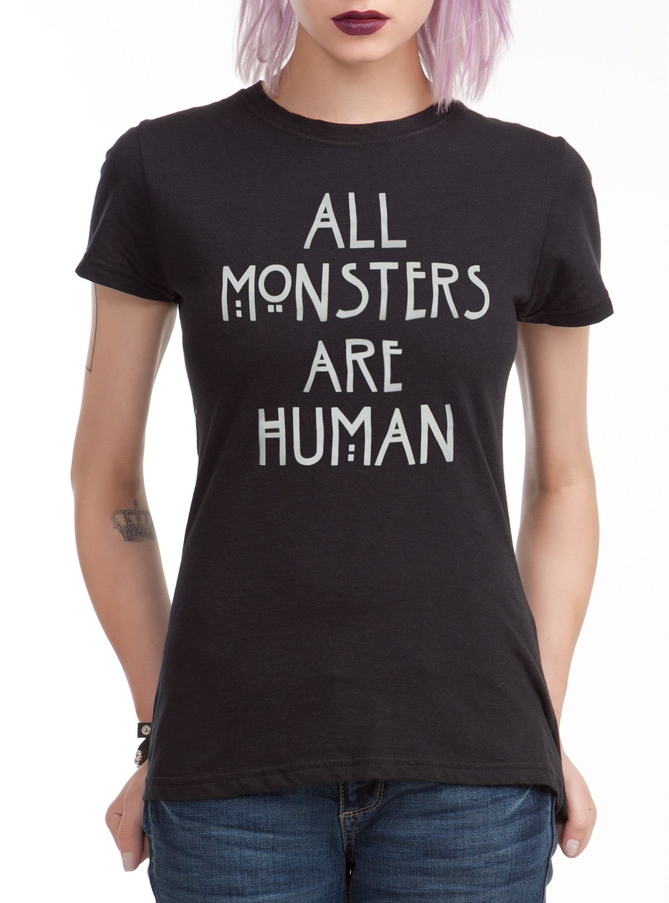 Shirts human design - American Horror Story All Monsters Are Human Girls T Shirt