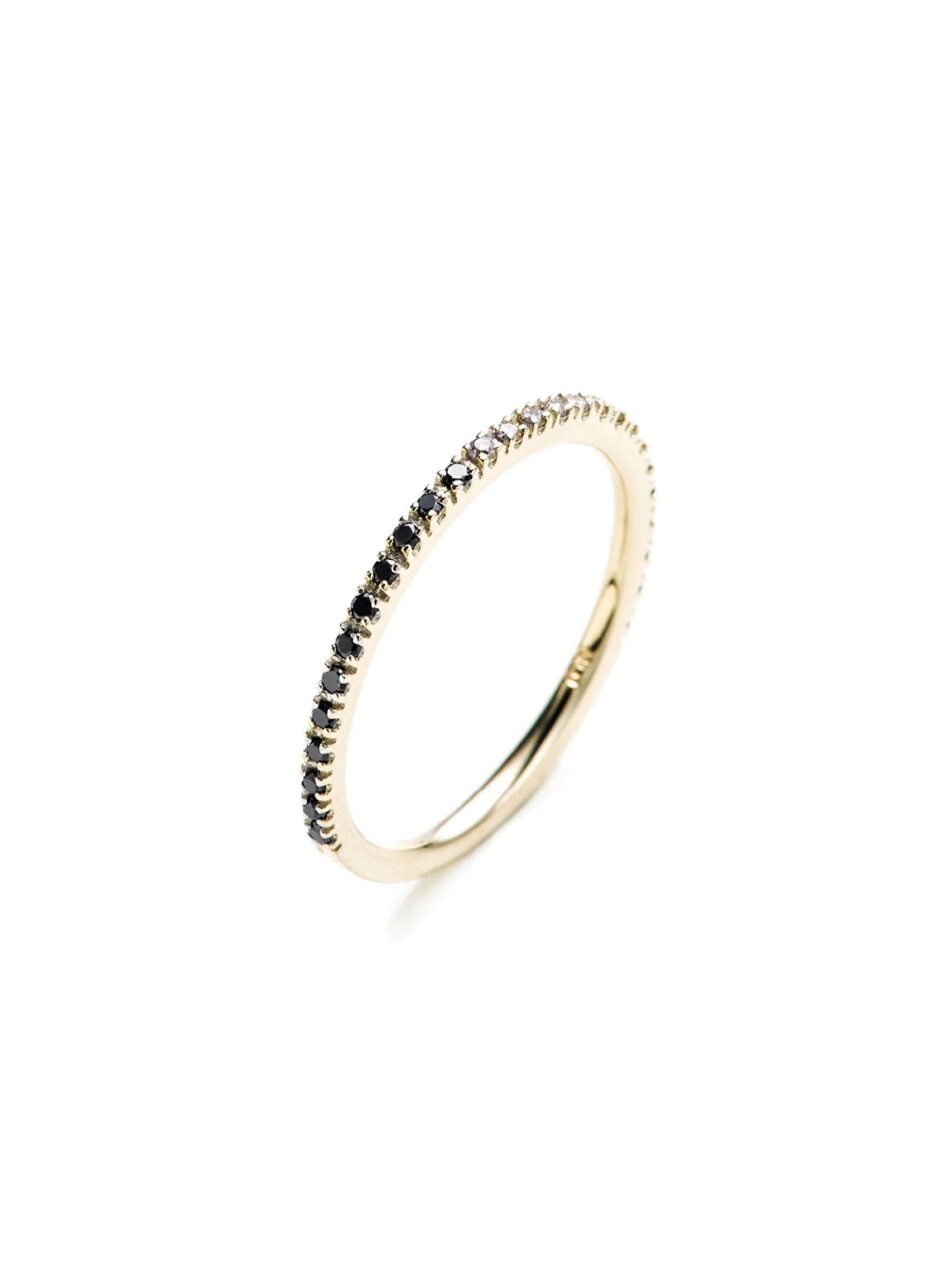 Hirotaka Gossamer Long Diamond Bar Ring Lz6mtLdZS