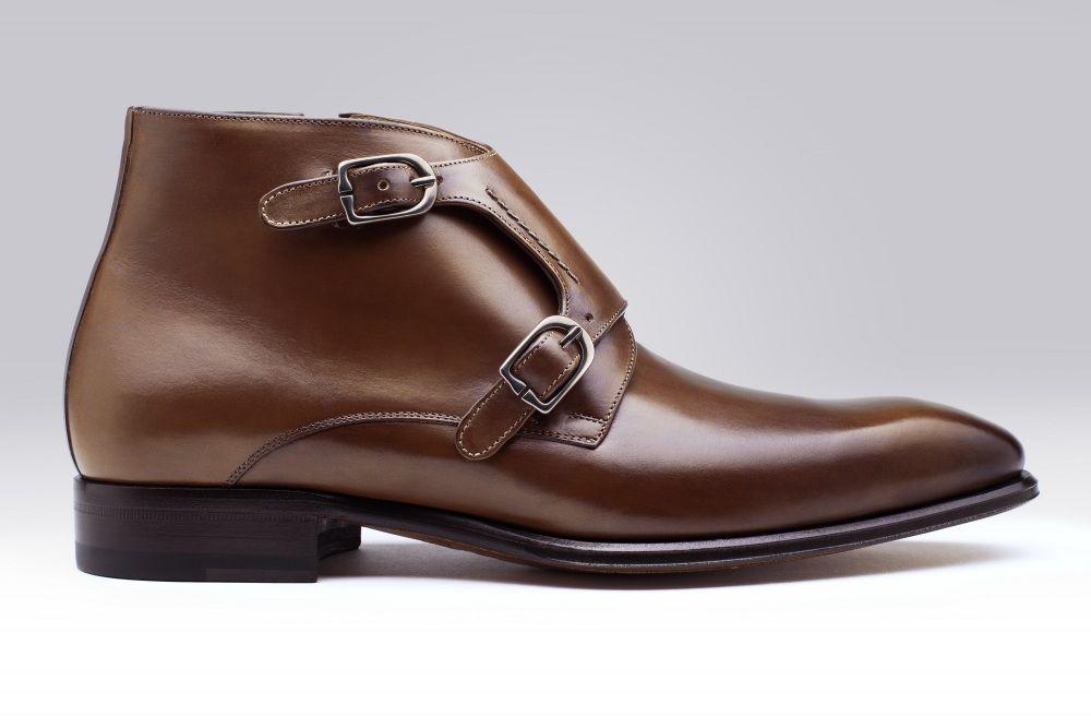 bottine boucle kingross marron pour homme finsbury shoes. Black Bedroom Furniture Sets. Home Design Ideas