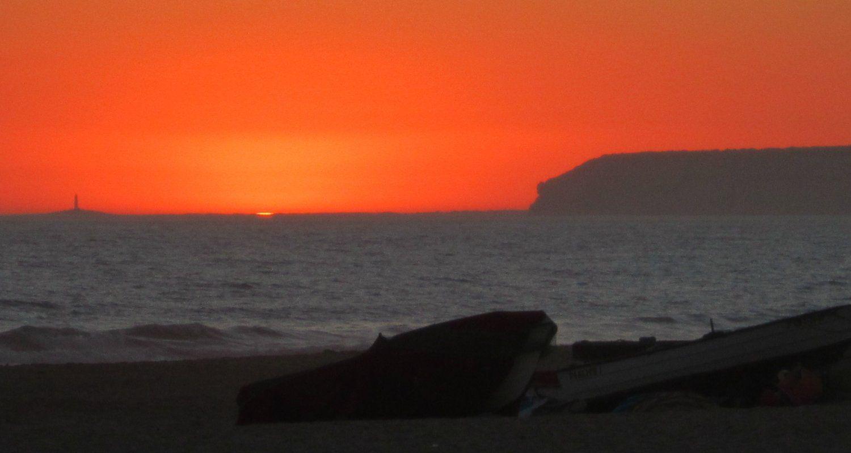 Puesta de sol en Zahara de los Atunes (Barbate, Cádiz)