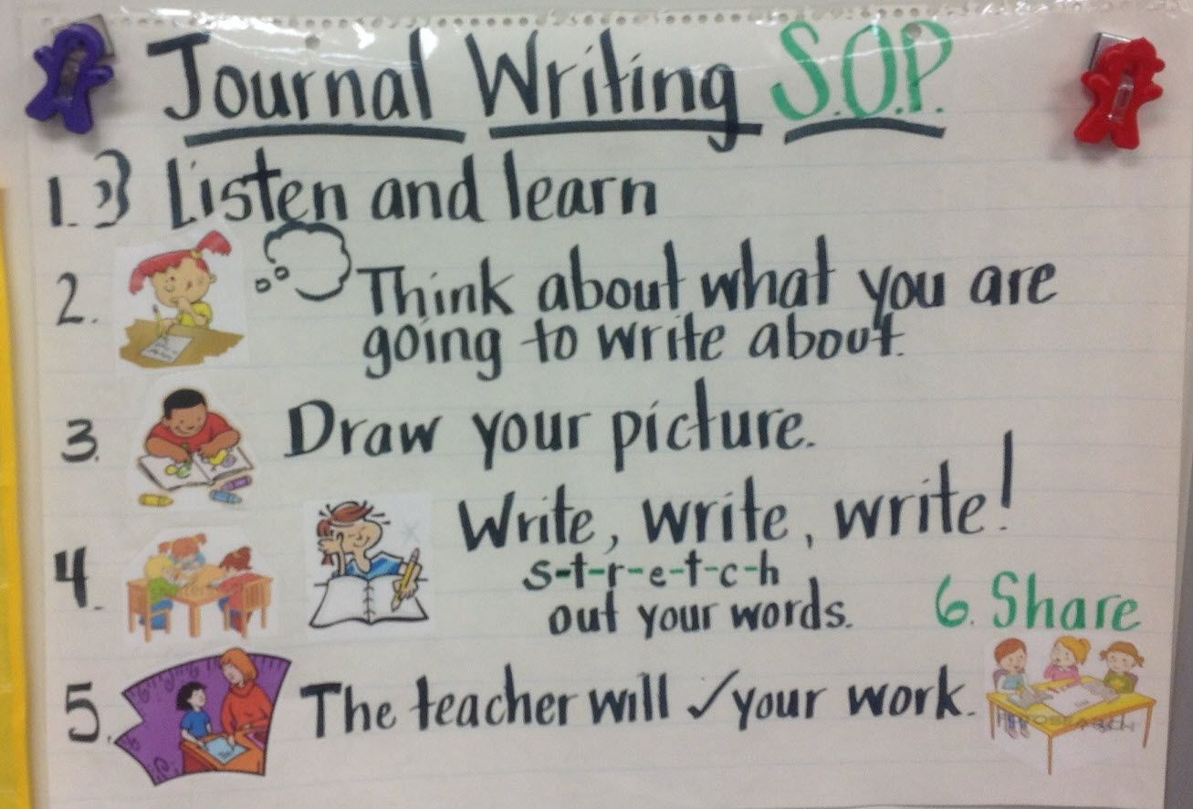 Sop Standard Operating Procedure For Journal Writing In A
