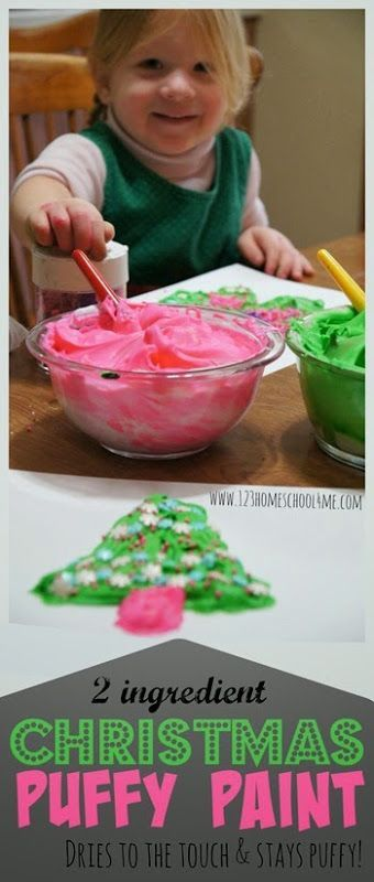 Christmas Tree Puffy Paint