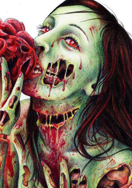 Pin by lee ann on ur dead 2 me dessin feerique dessin - Zombie dessin ...