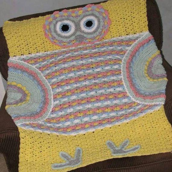 Crochet Pattern Owl Baby Afghan Crochet By Creativecrochetbybas