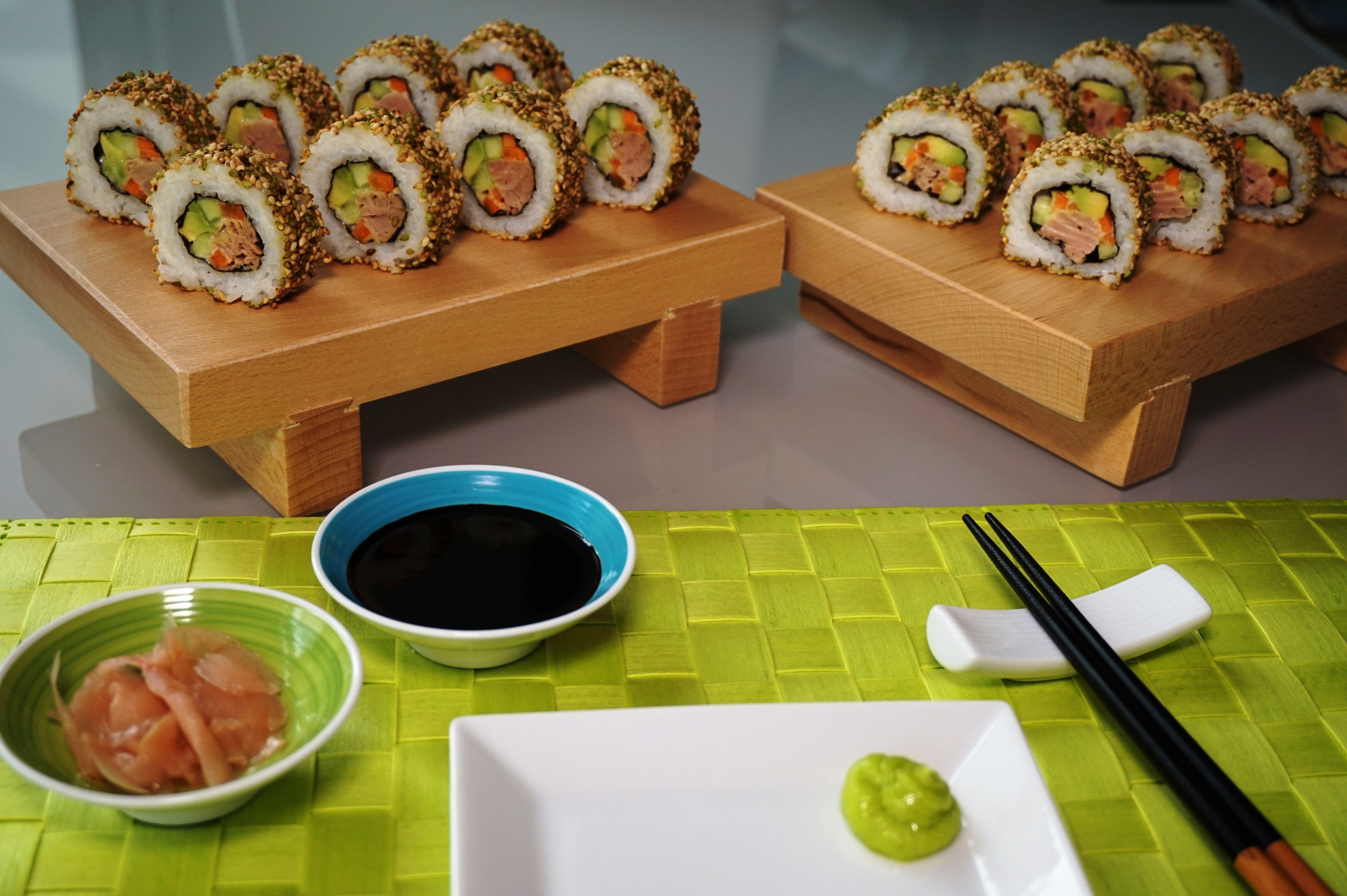 Gewichtsverlust Salate mit Thunfisch Sushi