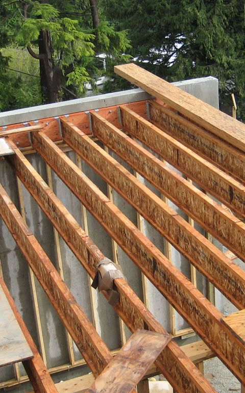 Structure Wood To Concrete Home Building In Vancouver Building A House Framing Construction Roof Truss Design
