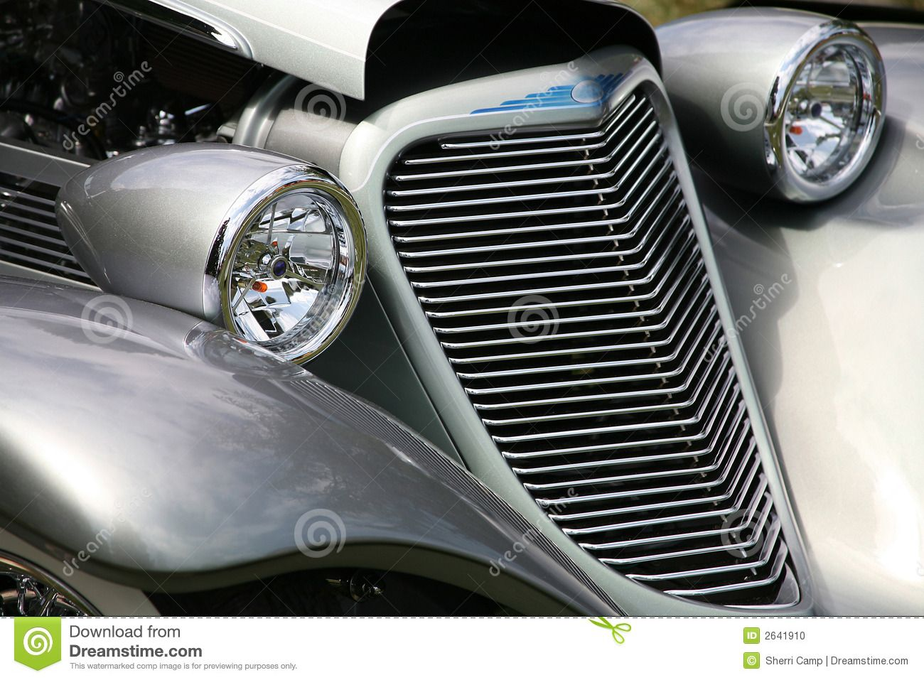 Antique Car Grill Headlights Stock Photo - Image: 2641910 | Grilled ...
