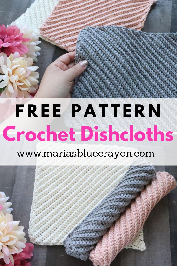 Easy Free Crochet Dishcloth Pattern