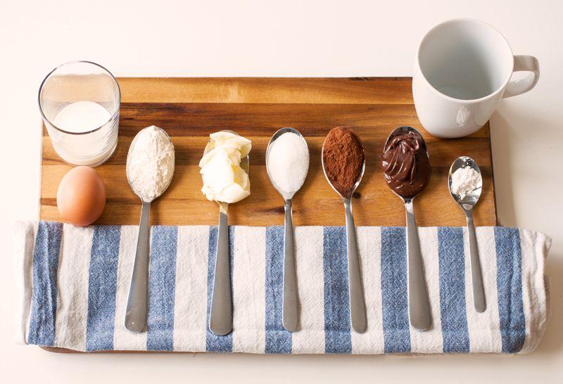 Zutaten Tassenkuchenweb Last Minute Valentinstags Nutella Tassen Kuchen