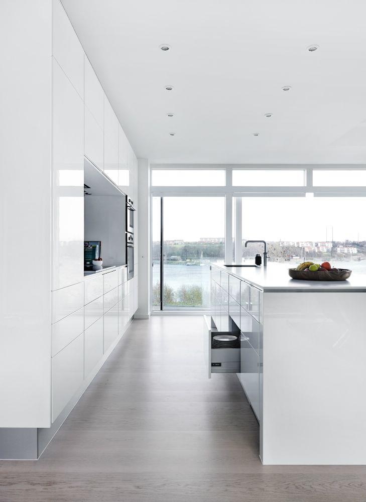 Modern Clean White Kitchen Minimalist Kitchen Interior Design