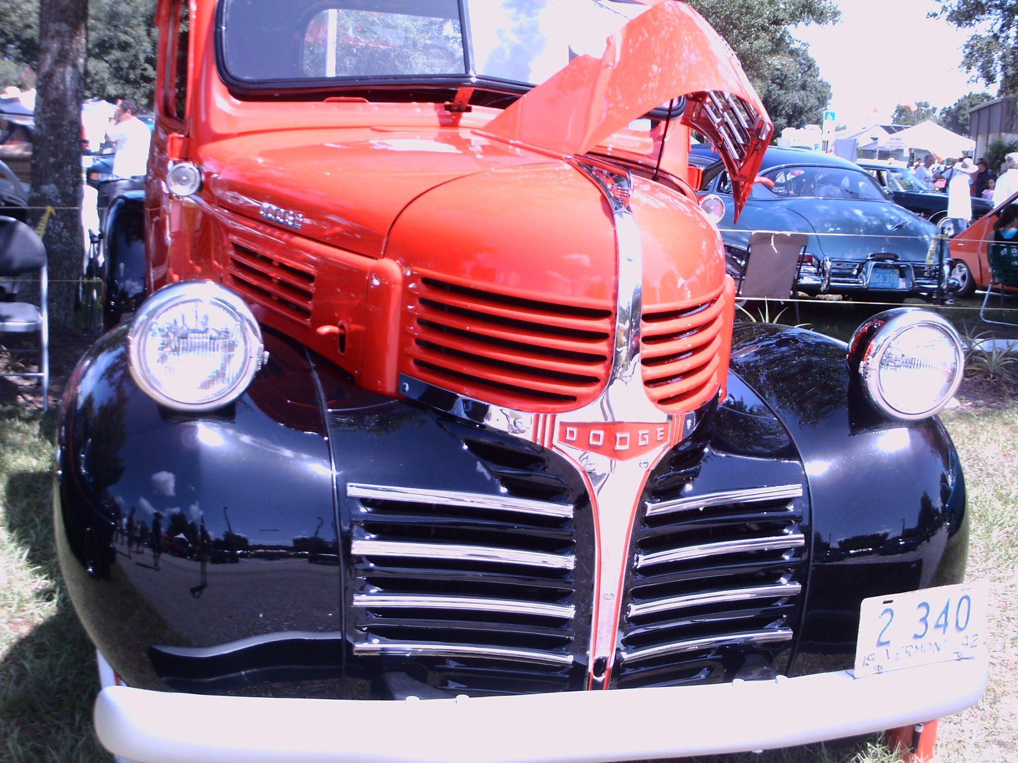 1941 Dodge Half Ton Pickup Truck Redblk Lakeland090114 Pickup Trucks Dodge Trucks