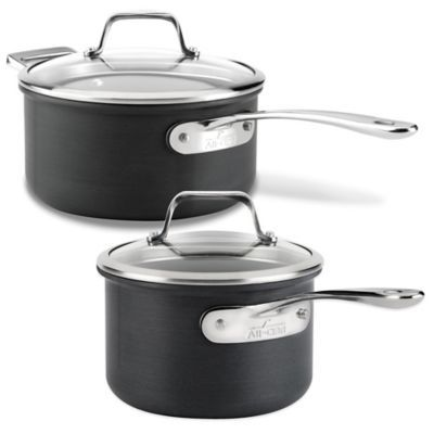 AllClad B1 Hard Anodized Nonstick Saucepan with Lid www