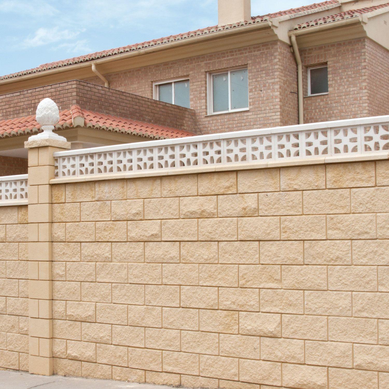 Bloque split crema y celos a malta celos as decorativas for Ladrillos decorativos para exteriores
