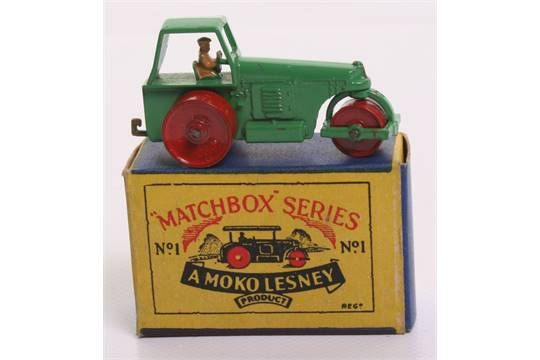 Lot 258 - Matchbox Moko Lesney 1b Road Roller in near mint condition, ,with a excellent B1 box complete