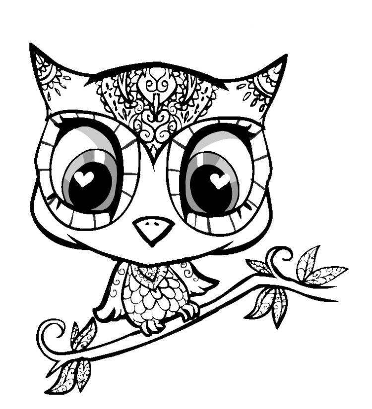 Cute Baby Animals Coloring Pages Owl Coloring Pages Animal Coloring Pages Mandala Coloring Pages