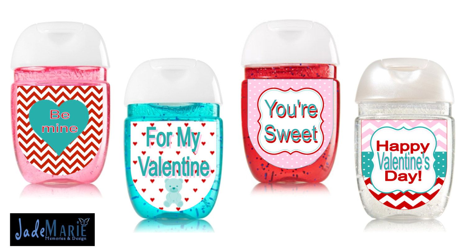 Valentine S Day Hand Sanitizer Labels Class Valentines Labels