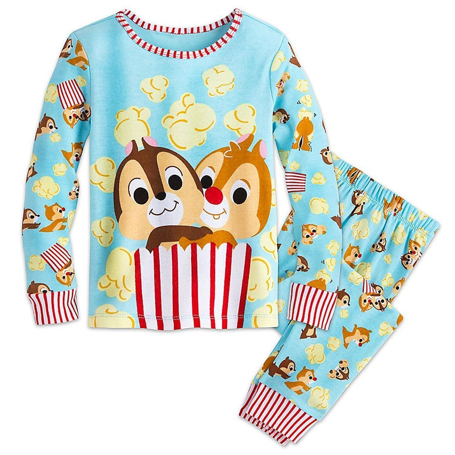 016b6a10b Genuine, Original, Authentic Disney Store - Screen art - Striped ribbed  collar and cuffs - Coordinating elastic-waist pajama pants - 100% cotton -  Made in ...
