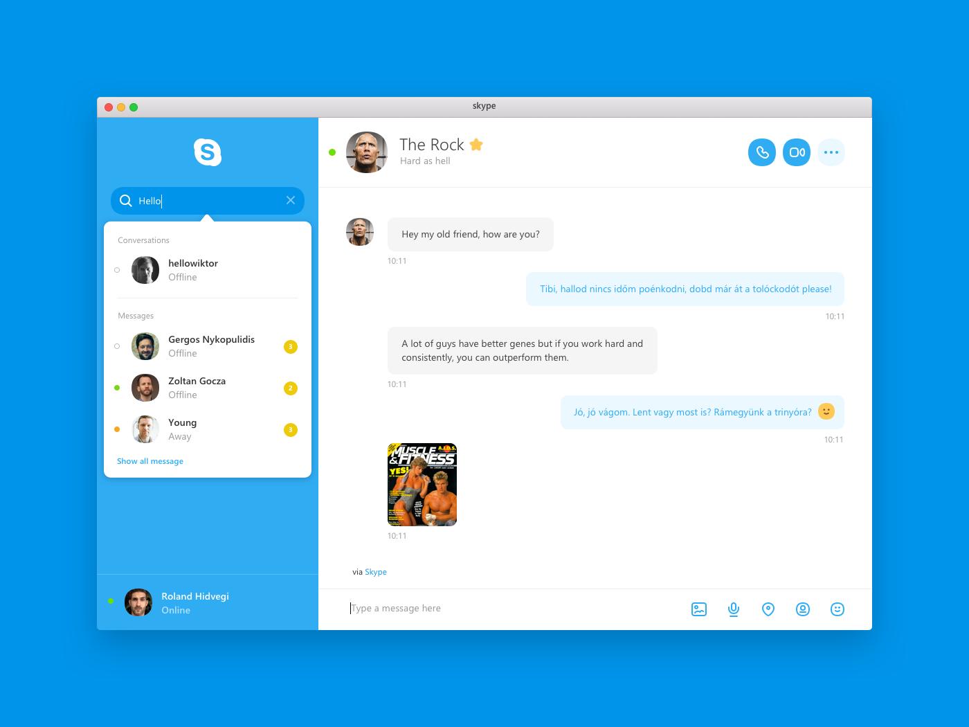 Skype for Mac Concept on Behance