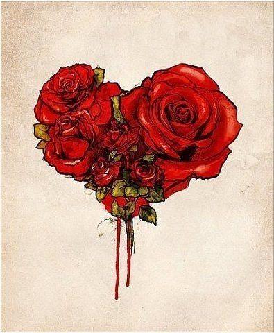 Roses Shaped Heart Tattoo Design Art And Designs Pinterest