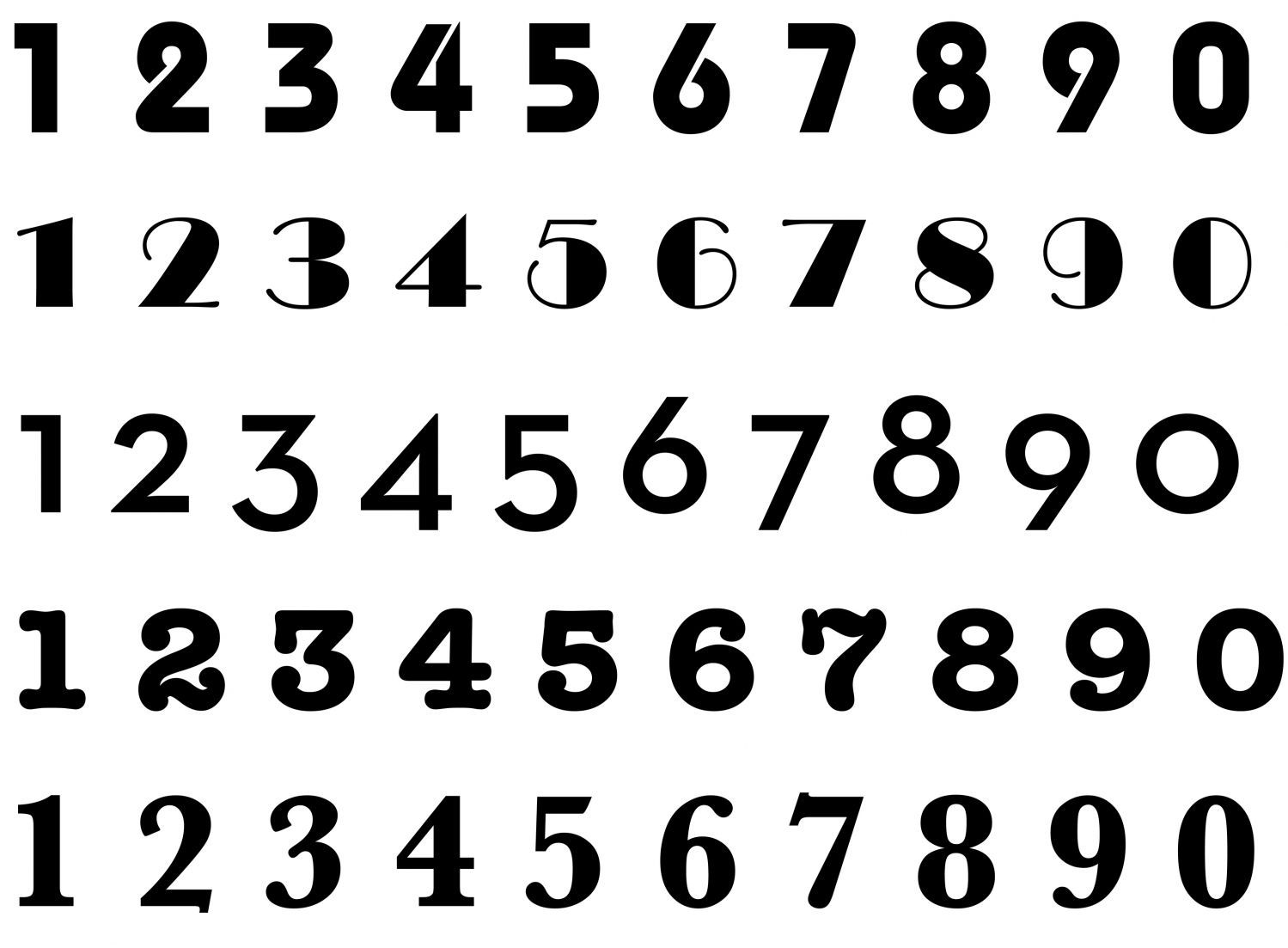 Modern Numbers Sketches Patterns Templates Number Fonts Numbers Font Lettering Fonts
