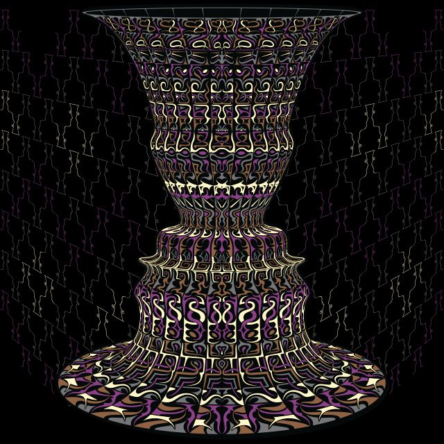 Vase 2 Face Vase Or Face Psychedelic Design Psychedelic Creation