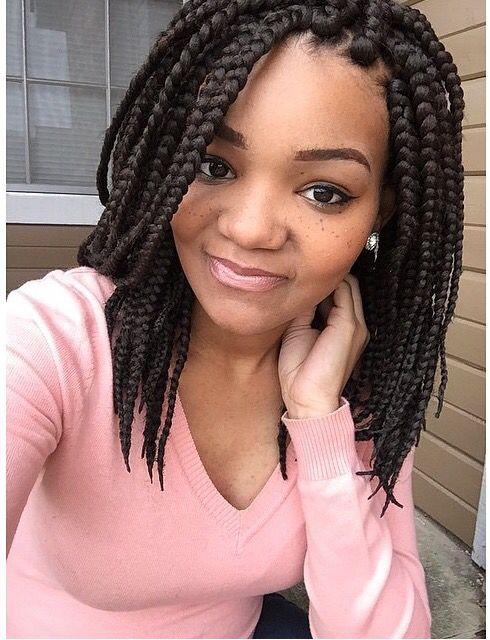 Short box braids style | african braids | Pinterest ...